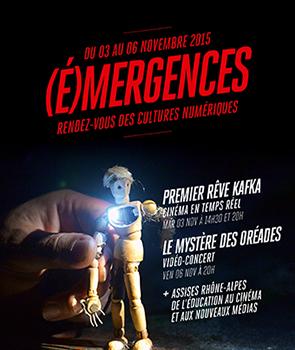 (É)MERGENCE — PRODUCTIONS VISUELLES EN ÉCOLES D'ART le vendredi 3 novembre, tables rondes et projections de films des étudiants de l'ÉSAD •Grenoble•Valence et de l'ESADSE (entrée libre).