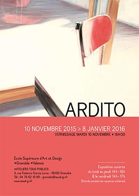 exposition Ardito a lieu du 10 novembre au 8 janvier 2016, aux ateliers tous publics de l'ÉSAD •Grenoble